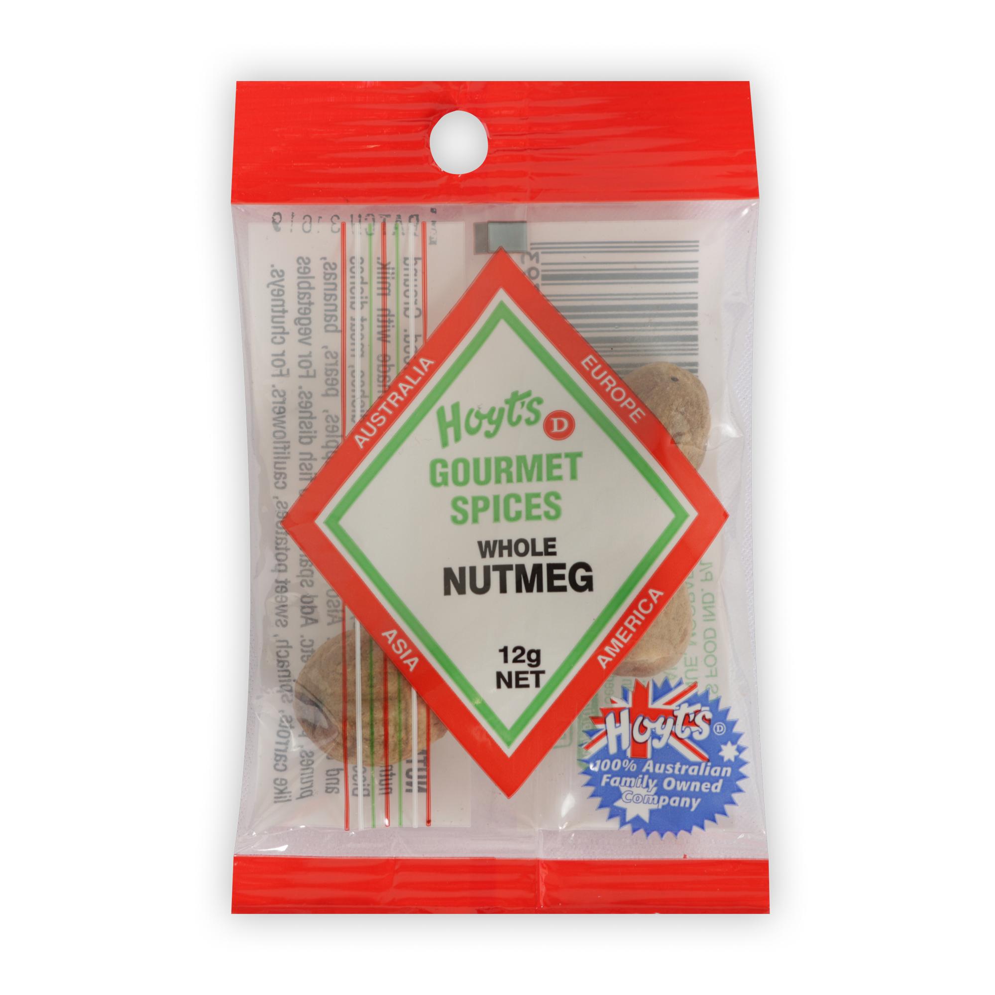 Hoyts Gourmet Nutmeg Whole 12g