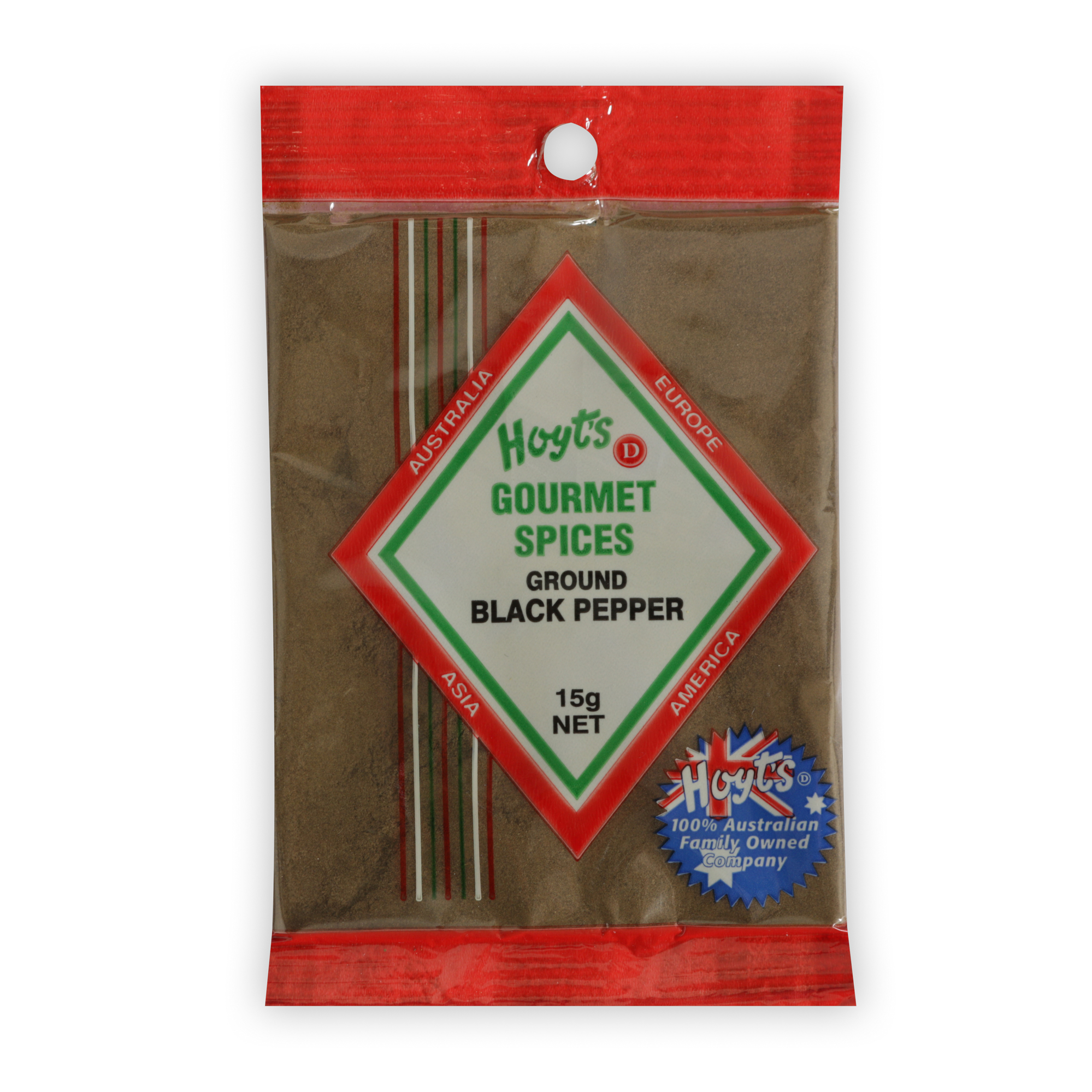 Hoyts Gourmet Pepper - Black Ground 15g