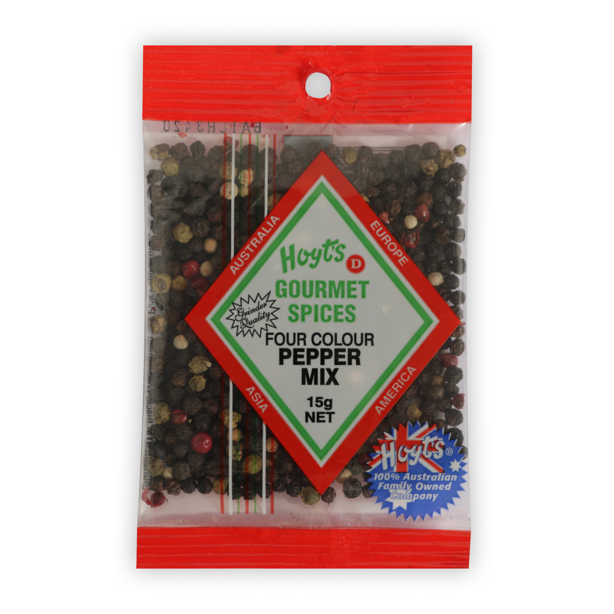 Hoyts Gourmet Peppercorn - 4 Colour Mix 15g