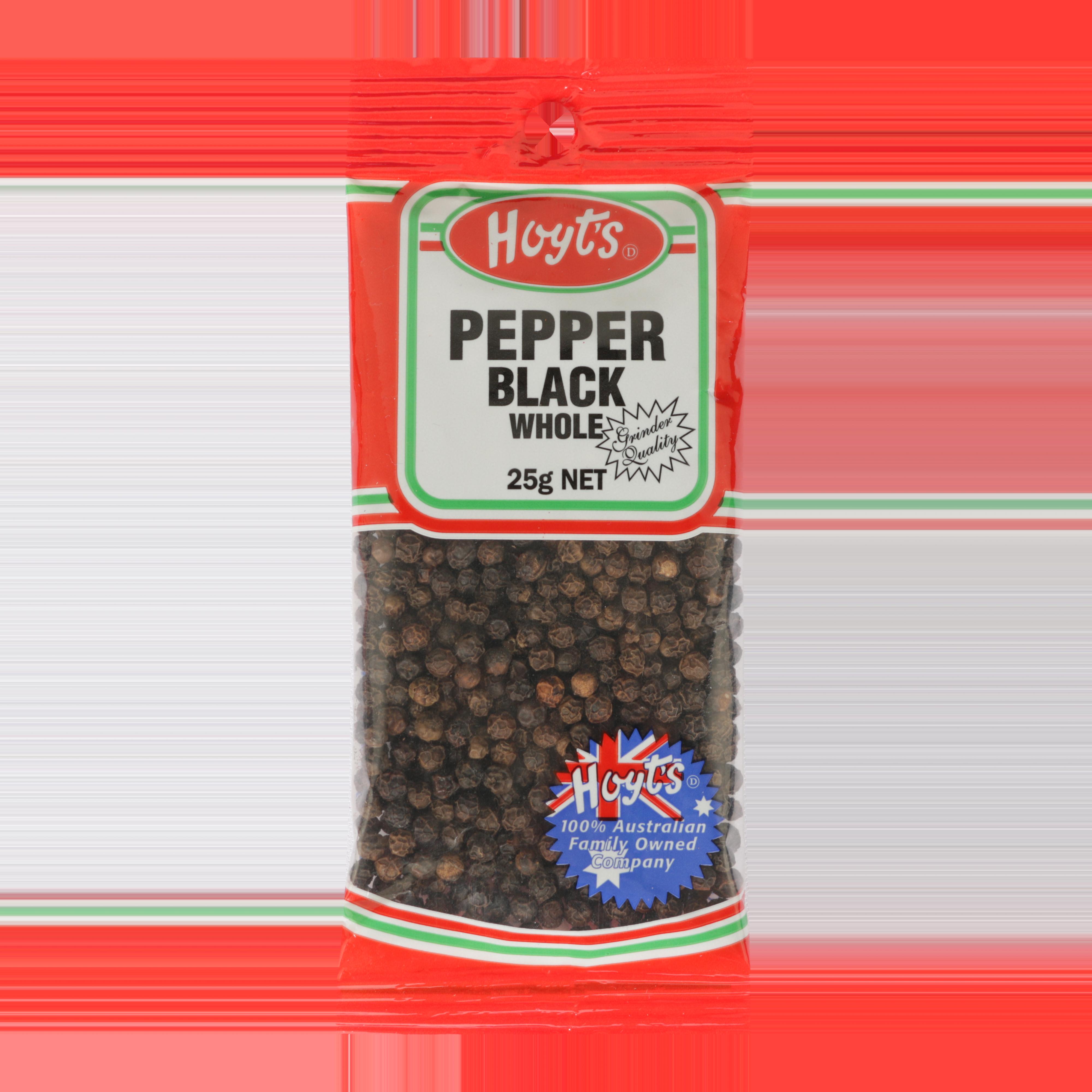 Hoyts Black Pepper Whole 25g